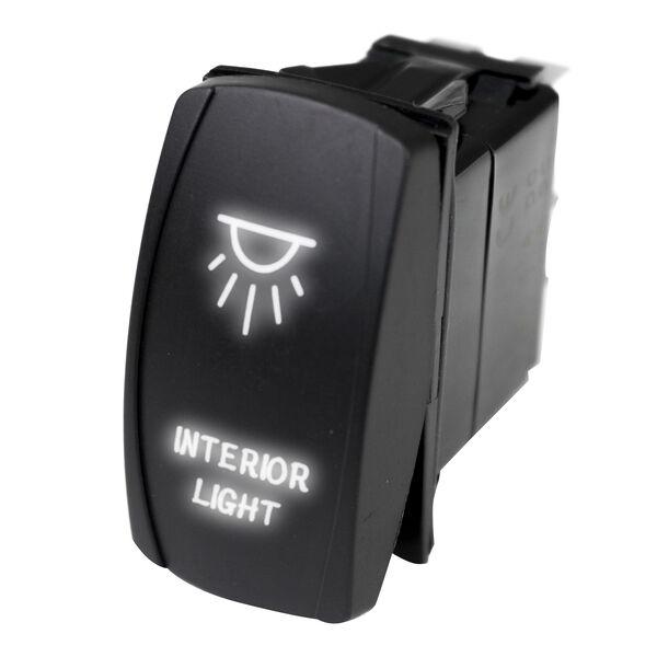 Race Sport LED Rocker Switch with White LED Radiance – Interior Lights