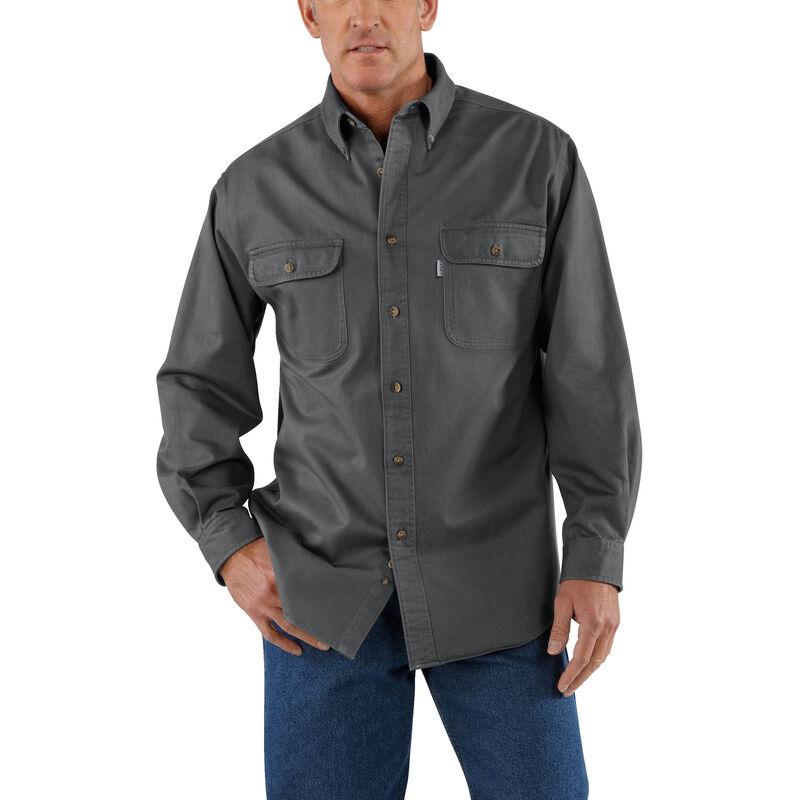 Carhartt Men's Sandstone Twill Long-Sleeve Shirt image number 3