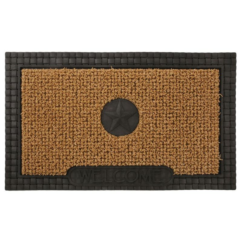 AstroTurf Star Design Patio Mat, 30'' x 18'', Black/Tan image number 1