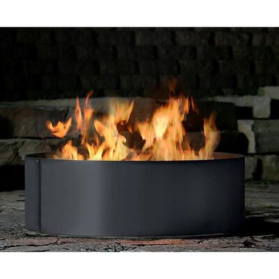 """P&D Metal Works 4-Piece Solid Wood-Burning Fire Ring, 48"""""""