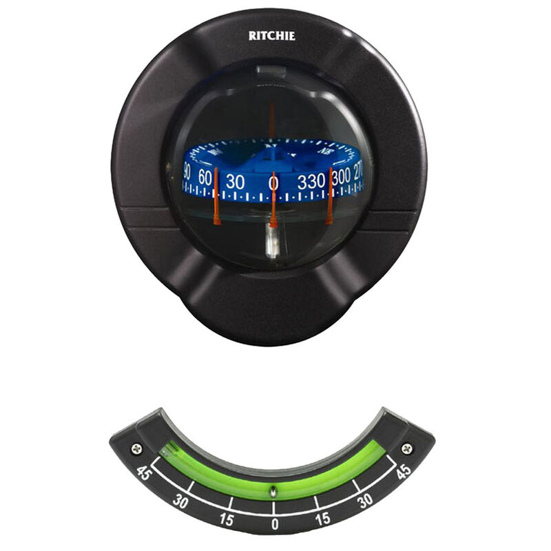 Ritchie SR-2 Venture Bulkhead Mount Sailboat Compass With Clinometer image number 1