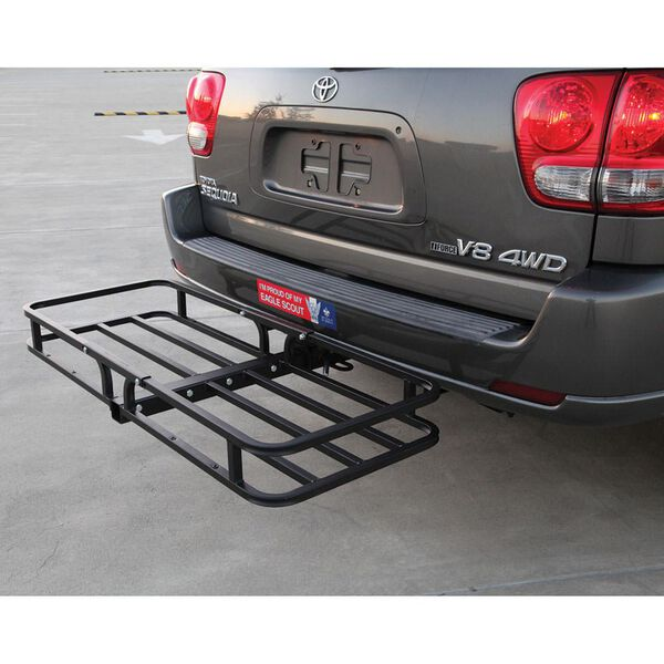 CargoLoc 2-In-1 Hitch-Mount Carrier And Roof Basket