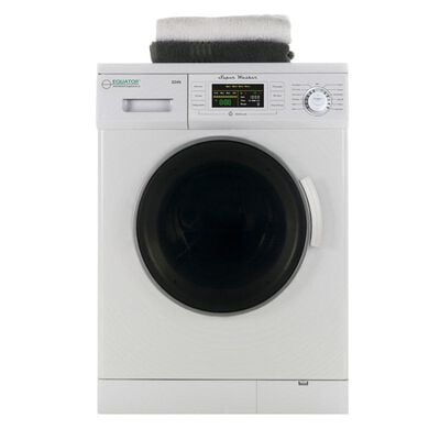 Equator New Version Compact Front Load Washer, 1.6 cu.ft. with 1200 RPM and Automatic Water Level, EW 824N