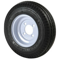 Kenda Loadstar 5.70 x 8 Bias Trailer Tire w/4-Lug Standard White Rim
