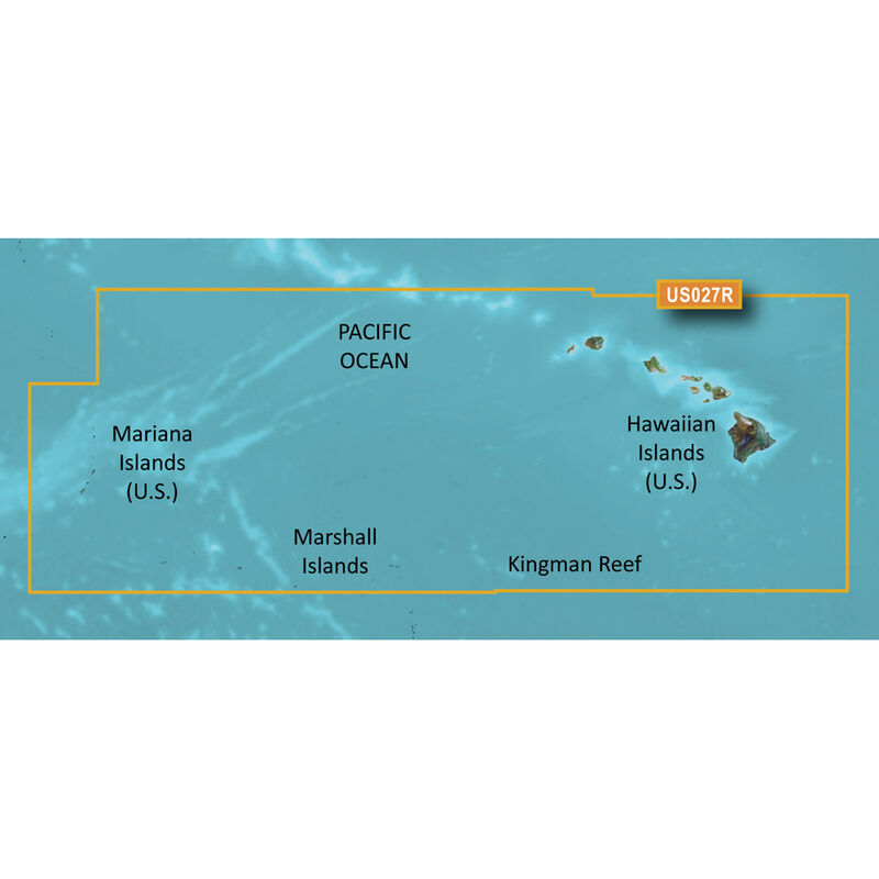 Garmin BlueChart g2 Vision HD Cartography, Hawaiian Islands - Mariana Islands image number 1