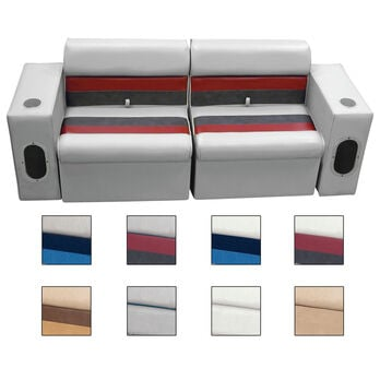 Deluxe Pontoon Furniture w/Classic Base(no toe kick)-Front Group Package E, Gray
