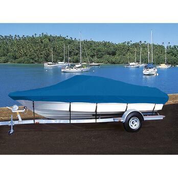 Exact Fit Hot Shot Coated Polyester Boat Cover For ALUMACRAFT V 16 LUNKER LTD 16 LUNKER LTD TILLER PORT TROLLING MOTOR