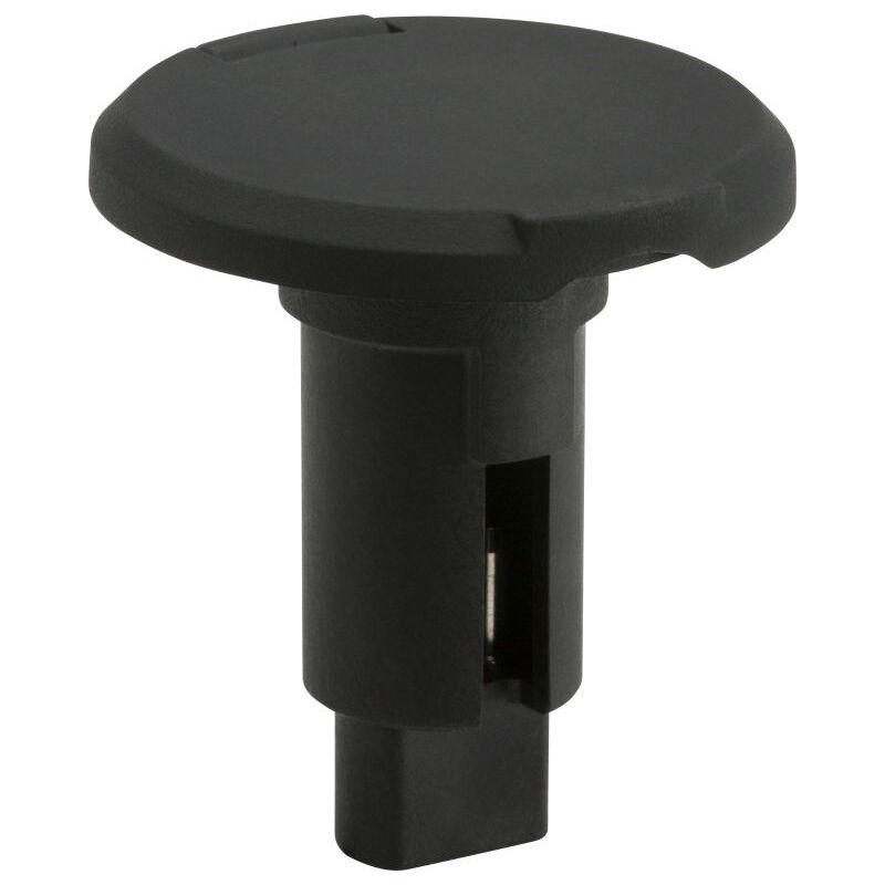 Attwood LightArmor Round Black Composite Plug-In Base image number 1