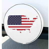 Elements Spare Tire Cover, Flag, 28""