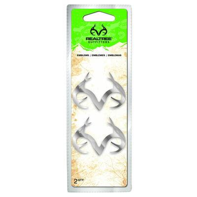 Realtree Antler Logo Emblems, 2-Pack