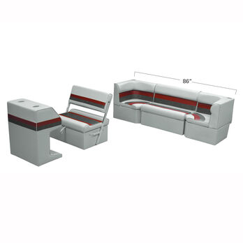 Toonmate Deluxe Pontoon Furniture w/Classic Base(no toe kick)- Rear Cozy Package