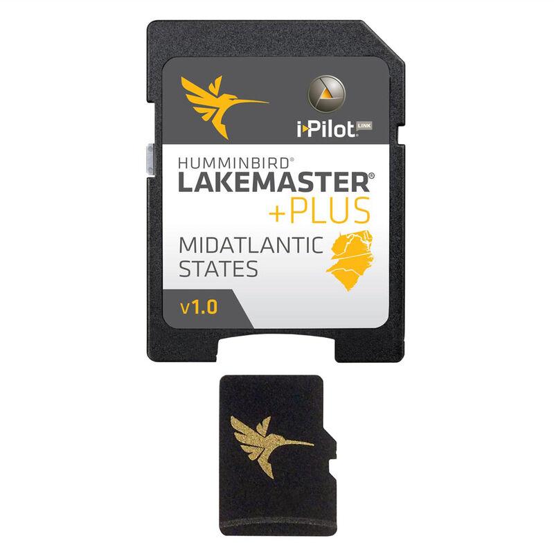 Humminbird LakeMaster Plus Chart MicroSD/SD Card, Mid-Atlantic States image number 1