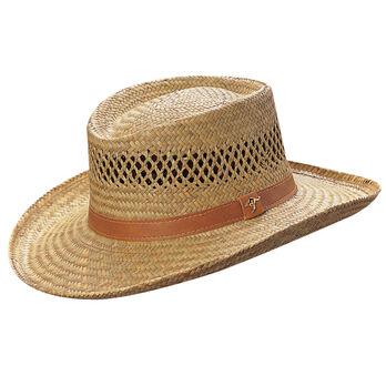 Dorfman Pacific Men's Gambler Rush Straw Hat