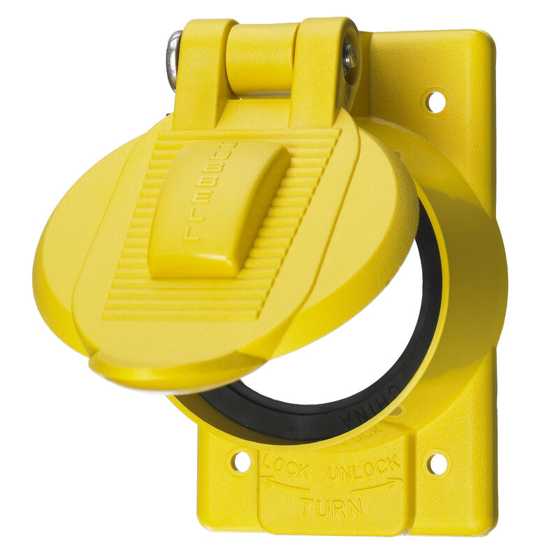 Hubbell Dockside Spring Loaded Cover Plate image number 1