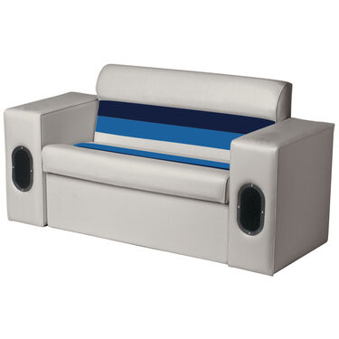 White Vinyl Pontoon Boat Lounge Seat Cover