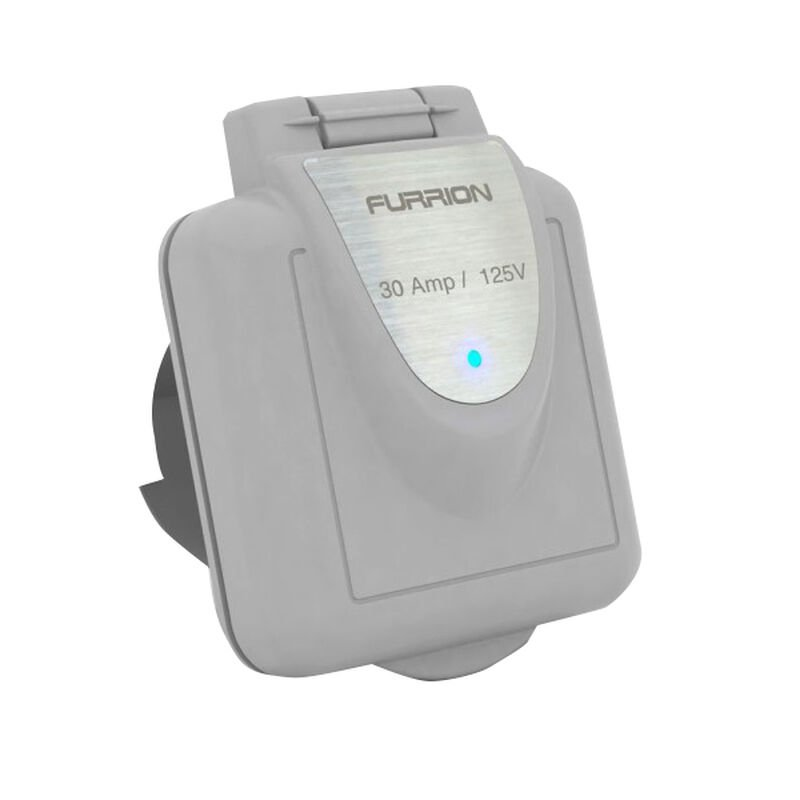 Furrion 30A Marine Power Smart Inlet (Gray) image number 1