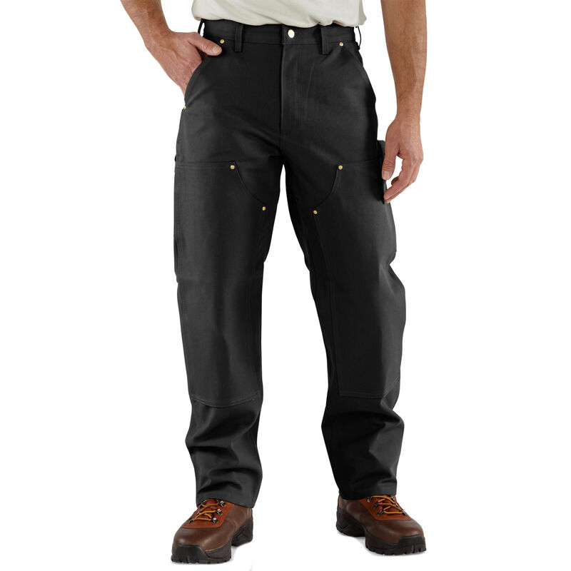 Carhartt Men's Firm Duck Double-Front Work Dungaree Pant image number 1