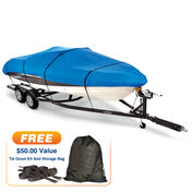 """18'5"""" max. length Covermate Imperial Pro Tri-Hull Outboard Boat Cover"""