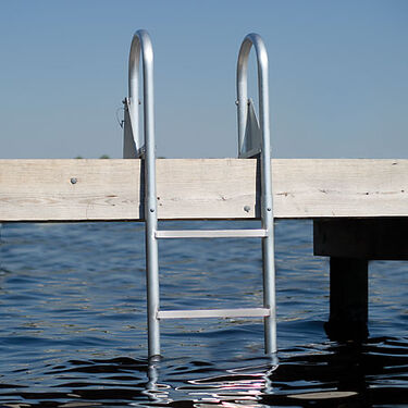 International Dock Flip-Up Dock Ladder, 3-Step