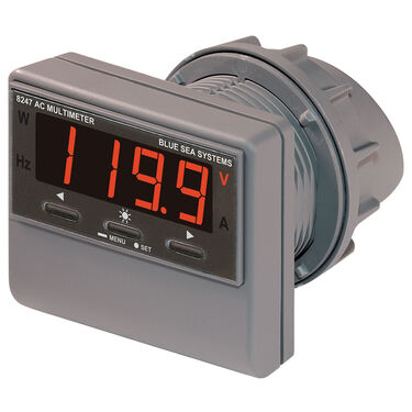 Blue Sea Systems AC Digital Multi-Function Current and Voltage Meter With Alarm