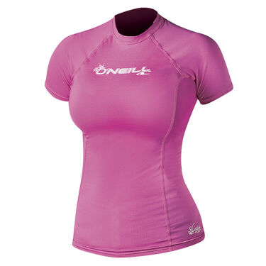 O'Neill Women's Skins Short-Sleeve Crew Neck
