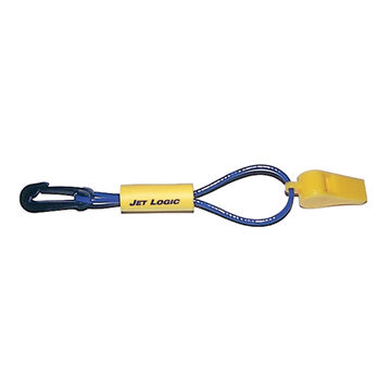 Safety Whistle On Floating Lanyard, purple/yellow