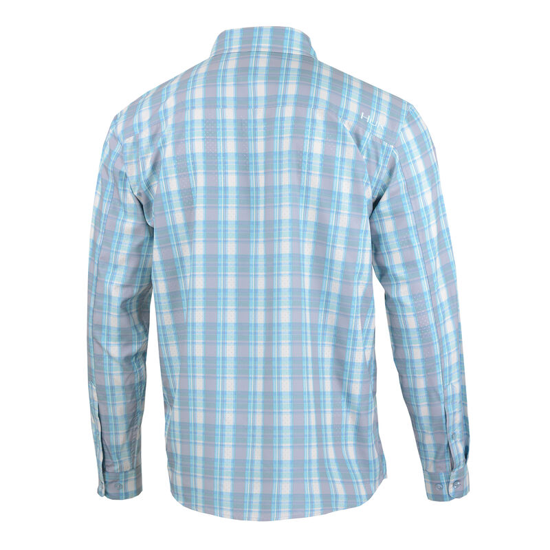 Huk Men's Tide Point Woven Plaid Long Sleeve image number 2