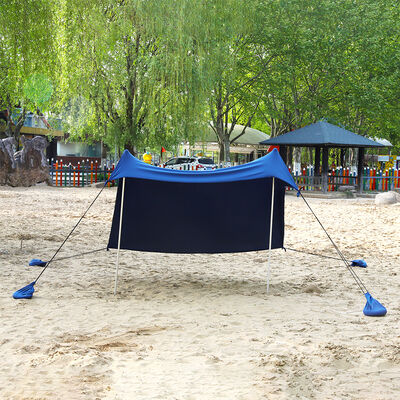 MF Studio Beach Shade 7.6' x 7.2' Sun Shelter and Portable Canopy, Navy