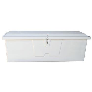"""Stow 'N Go Fiberglass Dock Box White Deep Medium (28.25""""H x 72.75""""W x 28.25""""H)"""