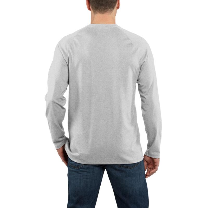 Carhartt Men's Force Cotton Delmont Long-Sleeve T-Shirt image number 8