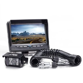 Rear View Camera System - One Camera Setup with Trailer Tow Quick Connect/Disconnect Kit