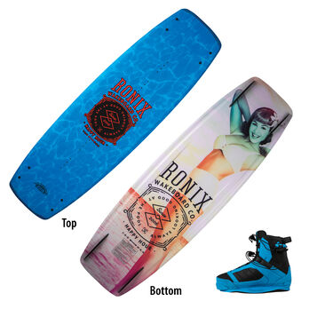Ronix Happy Hour Wakeboard With Cocktail Bindings