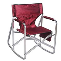 Rocking Full Back Folding Director's Chair, Burgundy