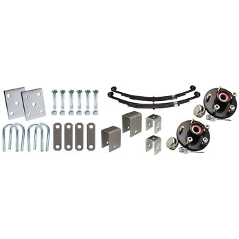 "Tie-Down 3"" Tandem Axle Installation Kit With Painted Hub"