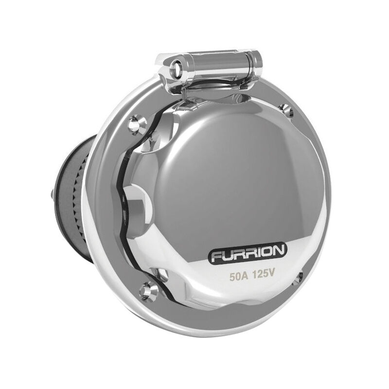 Furrion 50A Stainless Steel Power Inlet image number 1