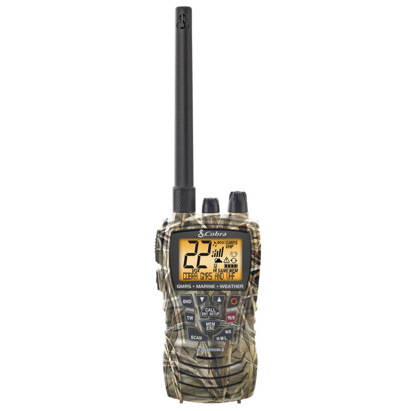 Cobra MR HH450 Dual Combination VHF and GMRS Radio, Realtree Max-4 Camo image number 1