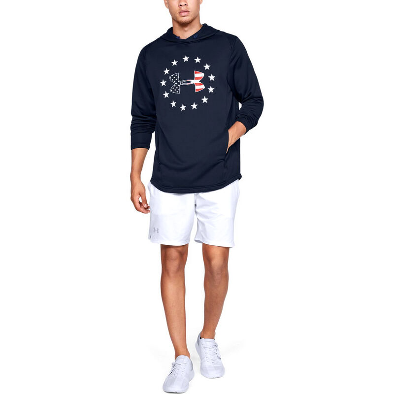 Under Armour Men's Freedom Tech Terry Hoodie image number 4