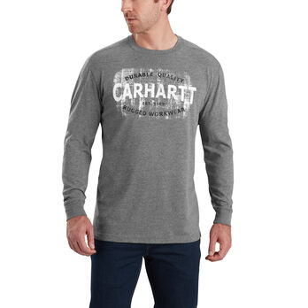 Carhartt Men's Maddock Rugged Workwear Logo Graphic Long-Sleeve Tee