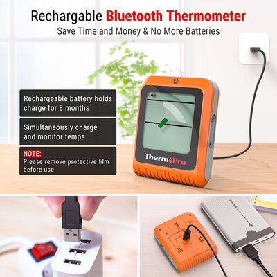 ThermoPro TP-25H2 Wireless Bluetooth Meat Thermometer with Dual Probes