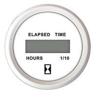 "Faria 2"" Chesapeake Digital Hourmeter, White"