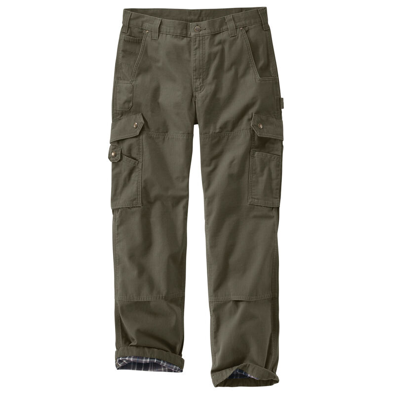 Carhartt Men's Ripstop Cargo Work Flannel-Lined Pant image number 7