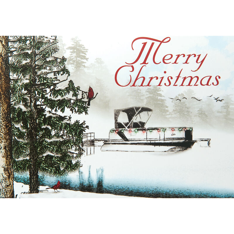 Personalized Pontoon Christmas Cards image number 1