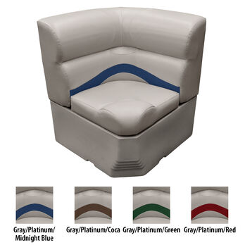 "Toonmate 25"" Premium Pontoon Corner Section Seat w/Radius Corner, Platinum Base"