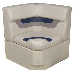 Toonmate Designer Pontoon Corner Section Seat - TOP ONLY - Platinum/Midnight/Mocha