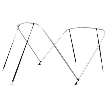 """Shademate Bimini Top 2-Bow Aluminum Frame Only, 5'6""""L x 42""""H, 73""""-78"""" Wide"""