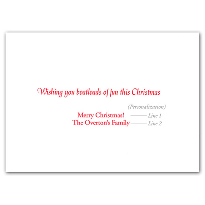 Kersten Brothers Personalized Speed Boat Santa Christmas Cards image number 2