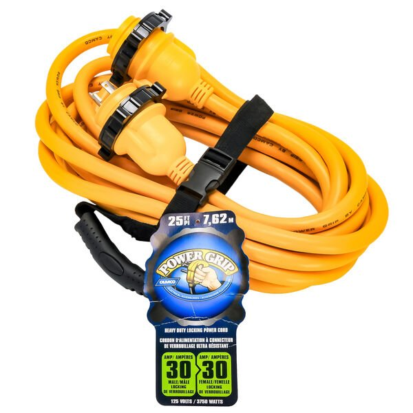 Camco Powergrip 25 Marine Extension Cord With Locking Ends 30 Amps Overton S