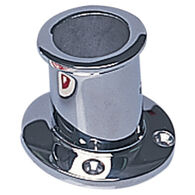 "3/4"" Chrome/Brass Flag Pole Socket"