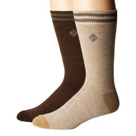 Columbia Fleece Thermal Crew Socks, 2 Pack