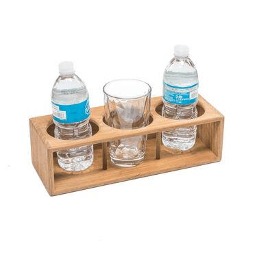 SeaForce Teak Three Insulated Drink/Bottle Rack